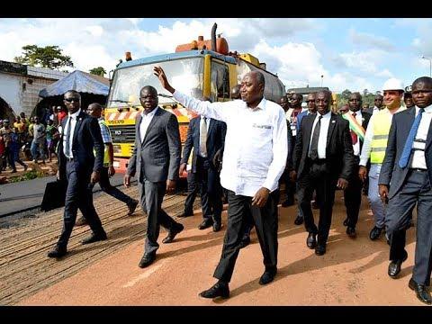 INFRASTRUCTURES ROUTIERES : LE PREMIER MINISTRE AMADOU GON COULIBALY LANCE A MAN LES TRAVAUX DE 13 KM DE BITUME