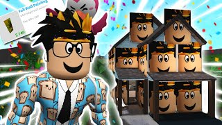 Building A Bloxburg House With THE NEW UPDATE ITEMS... My Face Is Everywhere