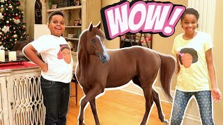 Bad Baby HORSE GOES WILD IN THE HOUSE! - Bad Baby Shiloh and Shasha Onyx Kids