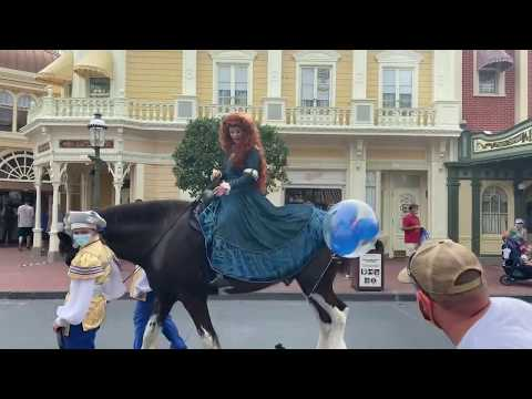 Horse Freaks Out After Getting Caught In A Balloon At Disney World