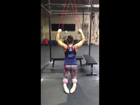 lat banded pull downs