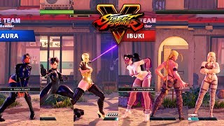Street Fighter V AE Falke/Chun Li/Laura Vs Ibuki/Cammy/Kolin PC Mod