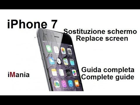IPHONE 7 sostituzione schermo vetro lcd replace screen guida completa