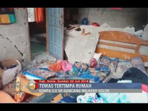 Gempa 5,5 SR Guncang Sumbar, Satu Orang Tewas Tertimpa Rumah - BIP 22/07