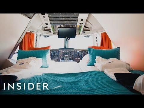 Sleeping Inside a Boeing 747 Hotel