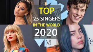 top 25 singers in the world 2020 - THE