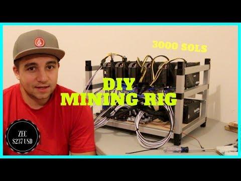 How To Build DIY ZCash Mining Rig 6x Zotac 1080 Mini - 3000 sols