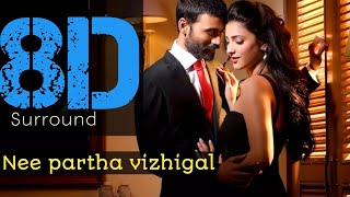 Nee partha vizhigal 8d || Anirud || Danush || Shruti hasan || 🎧 Strictly Use headphones