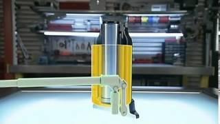 Гидродомкраты, домкраты гидравлические усилие  100 т. 50 мм ход от компании Гидравлик Лайн - видео