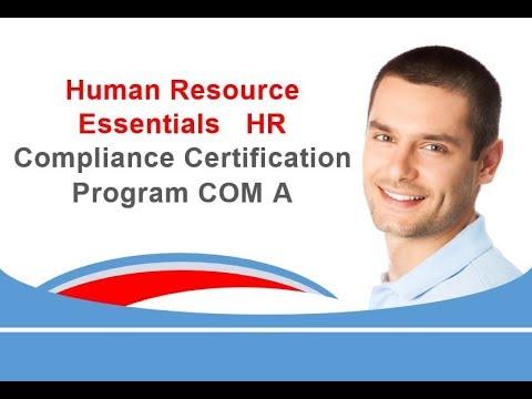 Human Resource Essentials HR Compliance Certification Program ...