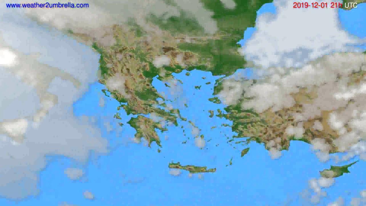 Cloud forecast Greece // modelrun: 12h UTC 2019-11-30
