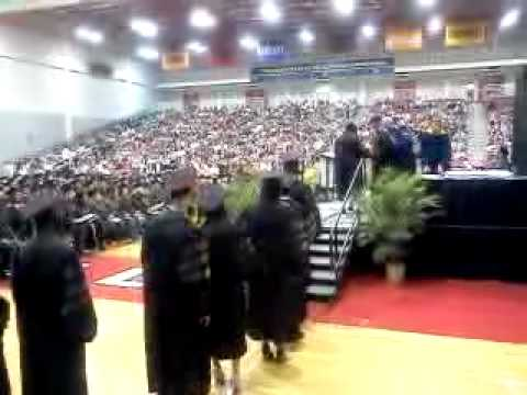 Dominique walking across the stage! UGA 2012