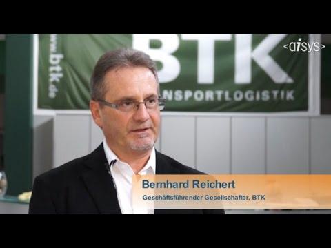 Hintergrund: xStorage 3. xStorage 3 ist ein hochmodernes Warehousemanagement-System der Aisys AG, auf dessen Grundlage sich beliebige Standardprozesse abbilden und Erweiterungen als Bausteine hinzufügen lassen. Hintergrund: BTK  Die BTK Befrachtungs- und Transportkontor GmbH mit Sitz in Rosenheim hat sich auf Logistik- und Transportdienstleistungen für Industrie und Handel spezialisiert.