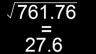 Finding Square Root Of A Decimal Number - More Than Million Views