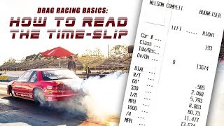 Beginners Drag Racing Tips (Part 2): How to Read Your Time Slip from the Drag Strip