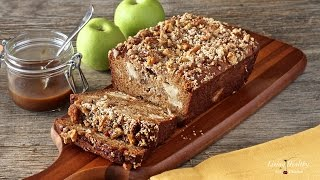 Warm Caramel Apple Pie Bread (Paleo, Gluten-free, Grain-free, Dairy-free)