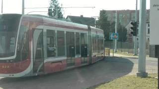preview picture of video 'Tramwaje Częstochowa wagon 129Nb Twist'