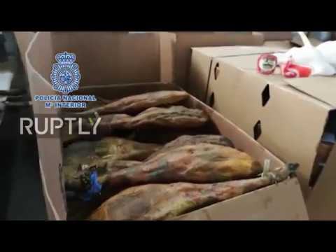 Spain: Police recover €27,000 worth of stolen ham and cheese