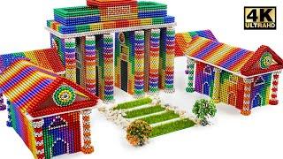 Most Creative - Build Brandenburg Gate From Magnetic Balls (Satisfying) | Magnet World Series