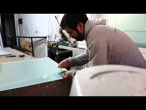 Corte vidrio rejilla gas