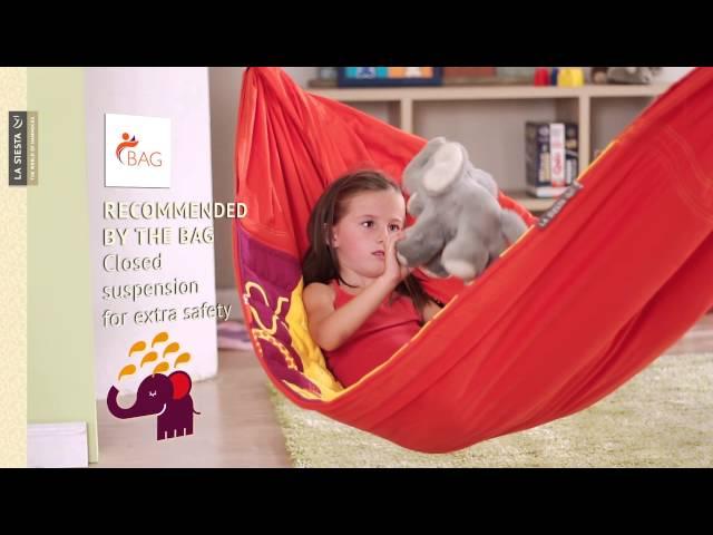 Видео Гамак La Siesta Animundo детский africa