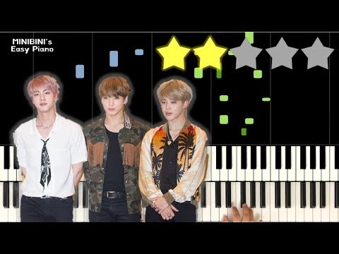 BTS (방탄소년단) - Dream Glow (BTS World OST Pt.1) Feat. Charli XCX 《MINIBINI EASY PIANO ♪》 ★★☆☆☆ [Sheet] - MINIBINI's Easy Piano