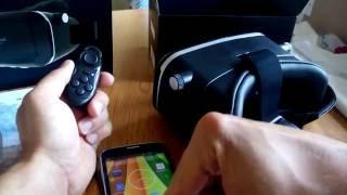 VR Headset Brille, BlitzWolf 3D Virtual Reality Brille mit Bluetooth Fernbedienung