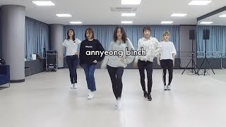 everything you didn't notice in 봐 (look) dance practice
