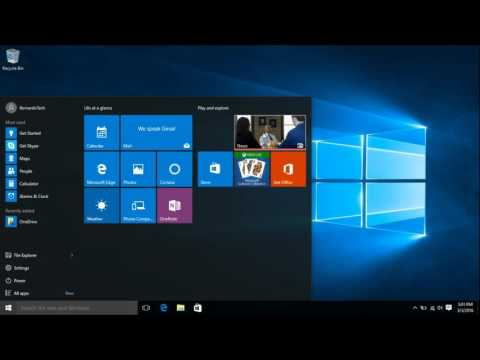 How to customize Windows 10 desktop icons and start menu