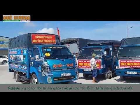 Nghệ An ủng hộ hơn 350 tấn hàng hóa thiết yếu cho TP. Hồ Chí Minh chống dịch Covid-19
