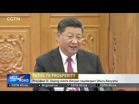 President Xi Jinping meets Kenyan counterpart Uhuru Kenyatta