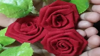 Rose Flowers Making With Waste Clothes/waste Cloth Upcycle/no Sew Fabric Flower/best Out Of Waste