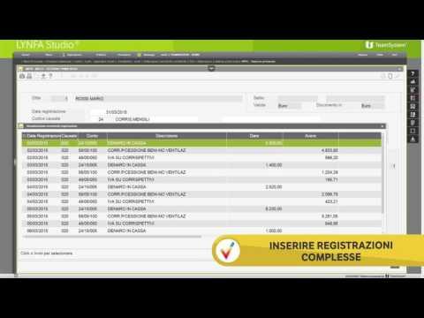 LYNFA Studio Videopillole Prima Nota operazioni manuali