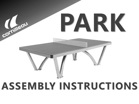 Cornilleau Park Permanent Static Outdoor Table Tennis Table - Assembly Video