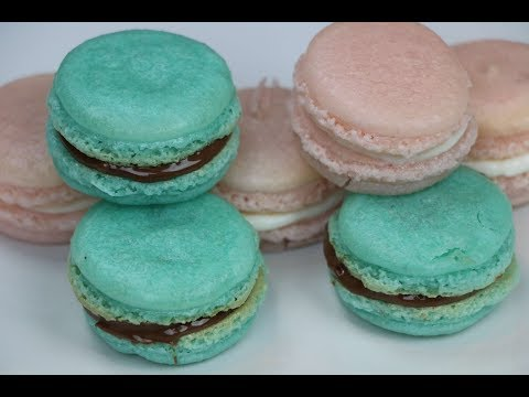 2 Easy Macaron Recipes - Strawberry Cheesecake Macarons - Nutella Macarons