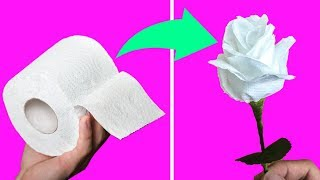 04 Toilet Paper Flowers DIY