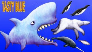 Tasty Blue #8 ЗУБАСТАЯ НАНО-АКУЛА СЪЕДАЕТ ВСЕХ! Мульт игра для детей СЪЕСТЬ ОКЕАН
