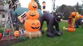 Ott Family Halloween Display