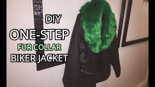 DIY ONE-STEP FUR COLLAR BIKER JACKET