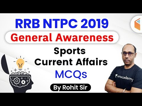 9:00 AM - RRB NTPC 2019-20 | GA by Rohit Kumar | Sports Current Affairs MCQs