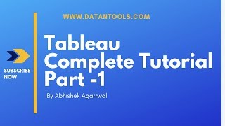 Tableau Training for Beginners Part 1| Tableau Tutorial for Beginners Part 1 | DATA & TOOLS