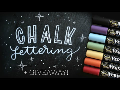 Chalk Lettering 101 | Demo & Giveaway (CLOSED)