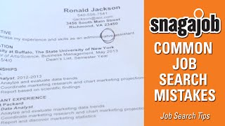 Job Search Tips (Part 1): Common Job Search Mistakes