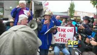 Home Land Security Checkpoint Protest in Port Angeles, WA Sept 20th, 2008 - King 5 Coverage