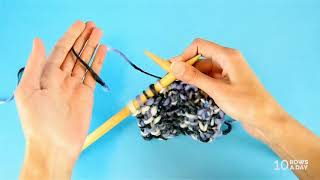 How to KNIT A BLANKET - Detailed KNIT ALONG for Beginners