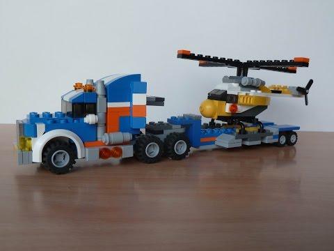Vidéo LEGO Creator 5765 : Le transporteur d'hélicoptère