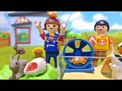 Playmobil Kleintierpension 9277 🐹 Neue Kleintiere im Playmobil Tierhotel 🐰 Kinder Film Serie deutsch