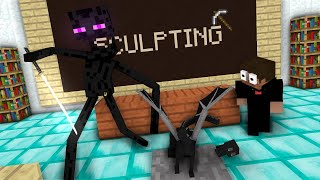 Monster School: Sculpting - Minecraft Animation