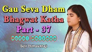 गौ सेवा धाम भागवत कथा पार्ट - 37 - Gau Seva Dham Katha - Hodal Haryana Devi Chitralekhaji