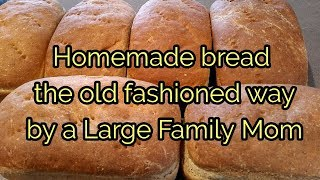 HOMEMADE BREAD the old fashioned way and PUMPKIN MUFFINS LARGE FAMILY STYLE